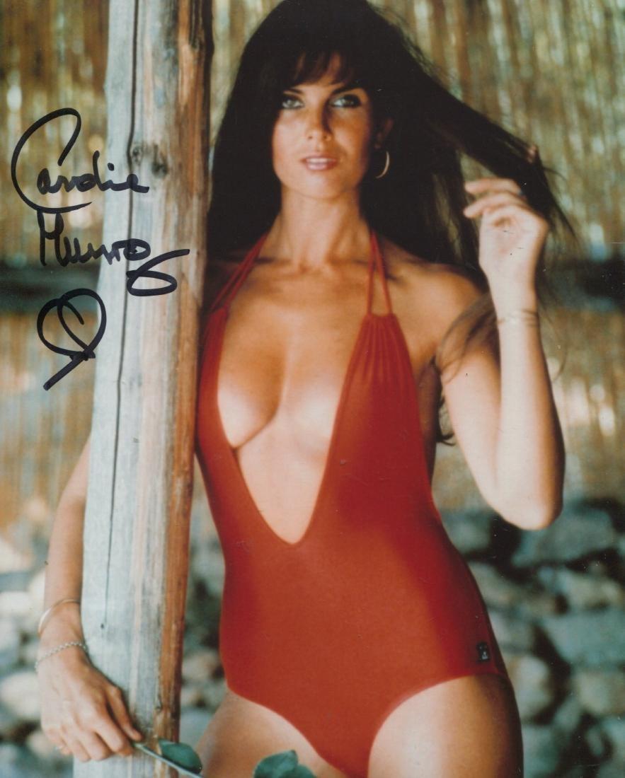 Bond Girl 8x10 Inch Red Bikini Photo Signed By Bond
