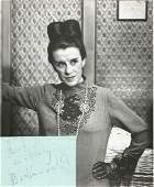 Beatrice Lillie autograph album page with unsigned 10 x