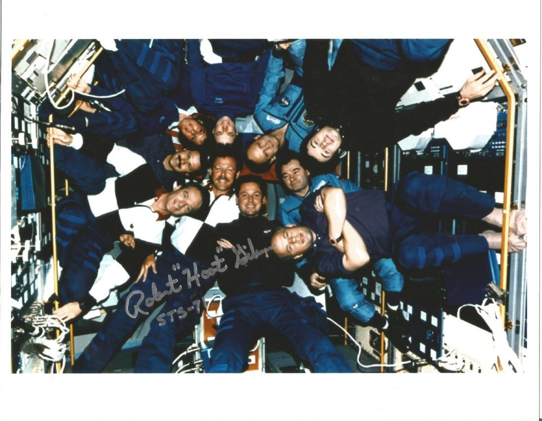 Robert Hoot Gibson astronaut STS71 signed 10x8 colour