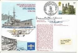 Mountbatten of Burma and Mjr J Sampson signed 1978