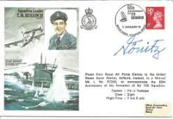 Karl Donitz WW2 Uboat commander signed Sqn Ldr Bulloch