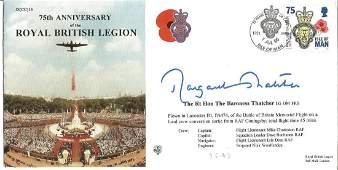 Margaret Thatcher signed 1996 75th Ann Royal British