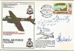 WW2 Uboat VIPs multiple signed RAF Colerne Armstrong