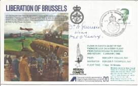 Pat OLeary signed Liberation of Brussels RAFES 35