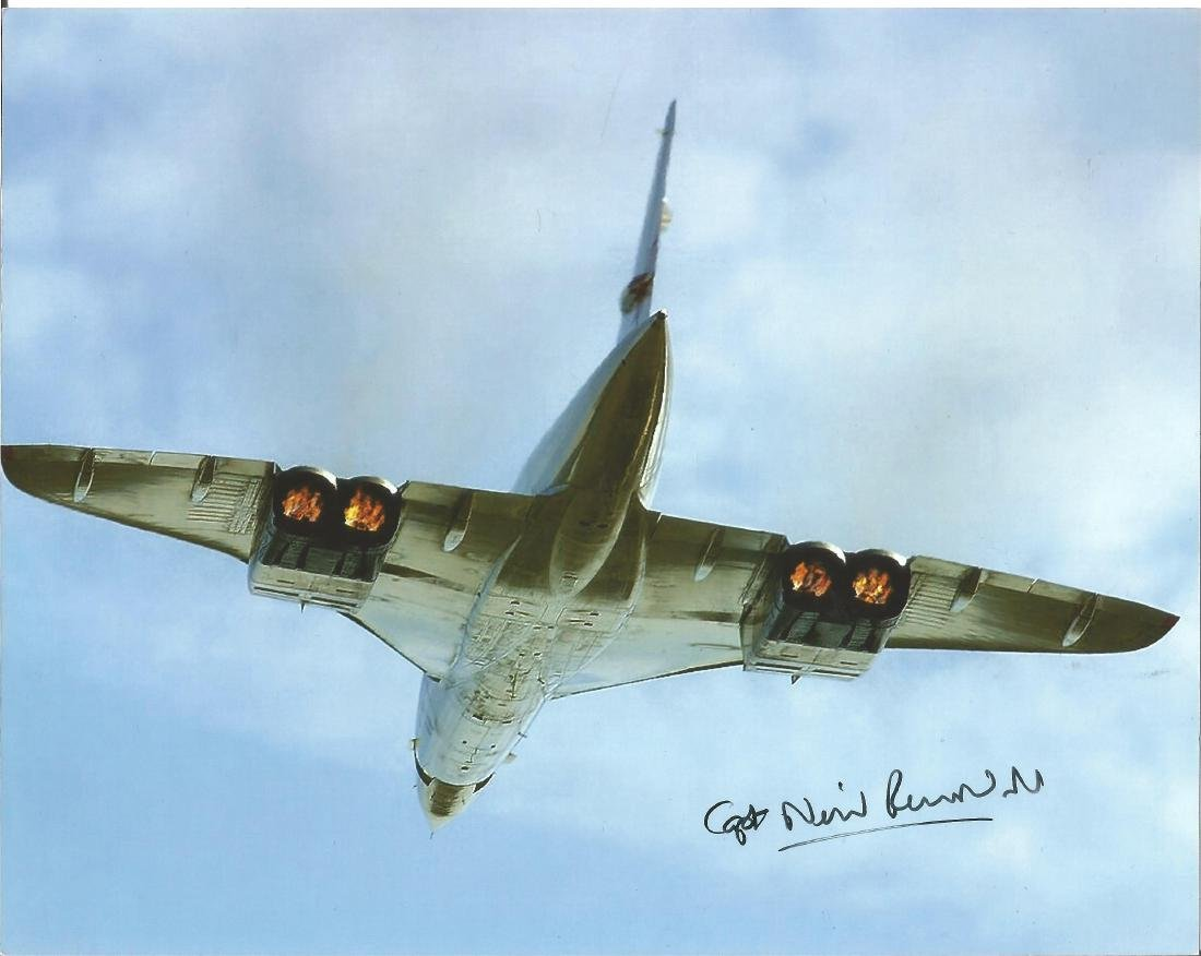 Concorde Neil Rendall signed 10x8 colour photo. Good