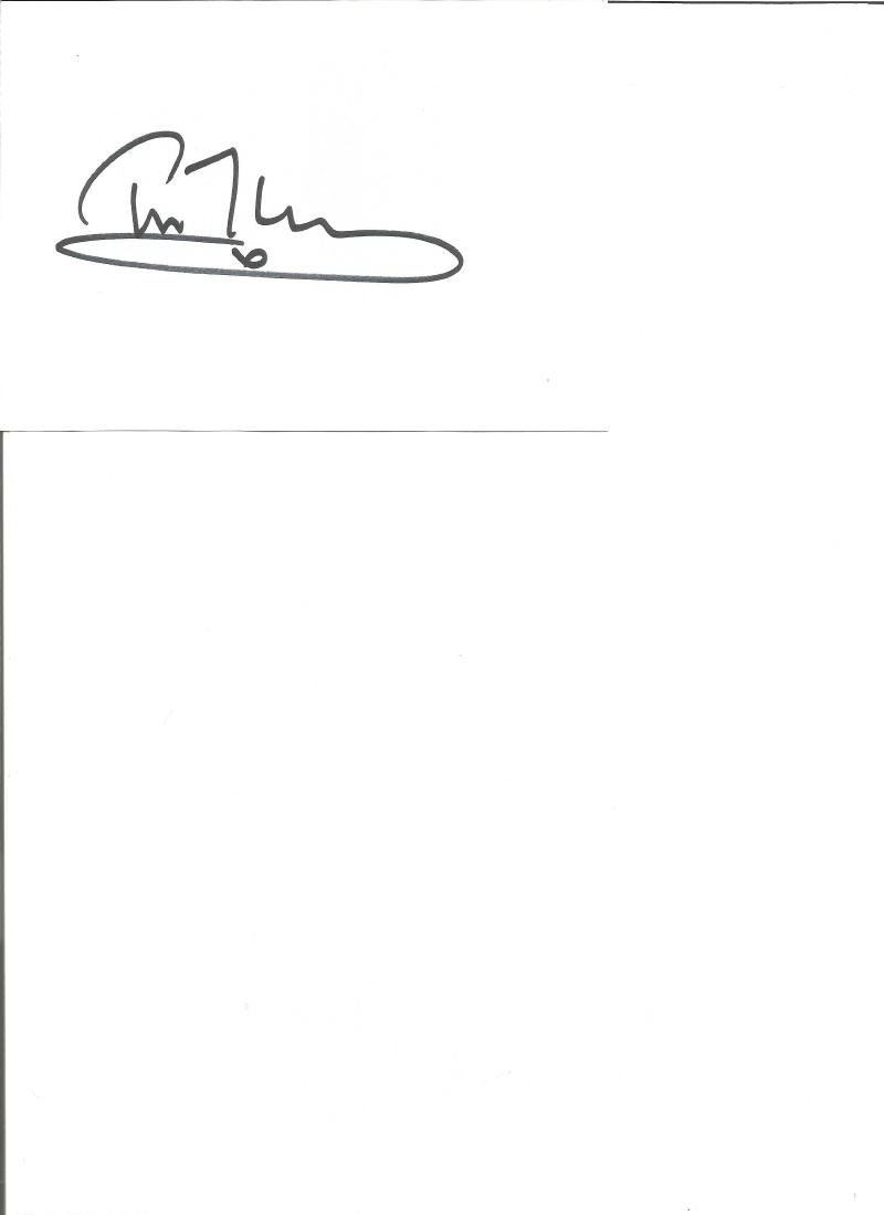 Tim Mcinnerny signed white card. English actor and