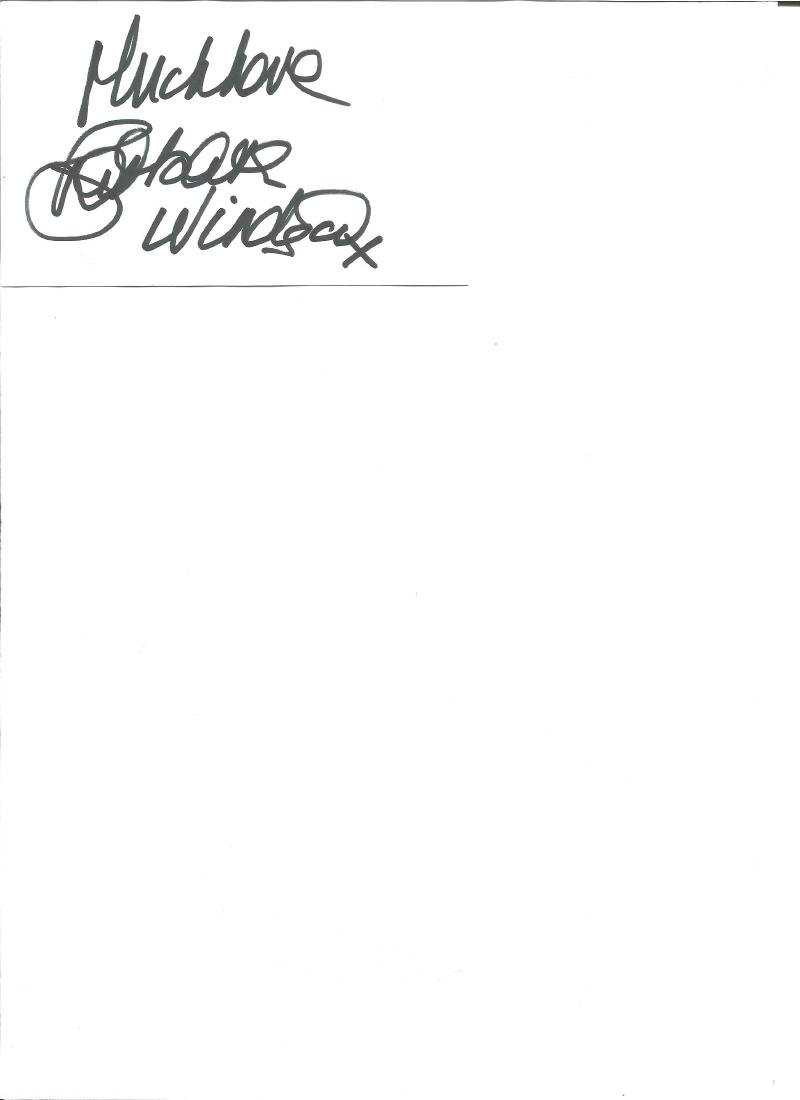 Barbara Windsor signed white card. Good Condition. All