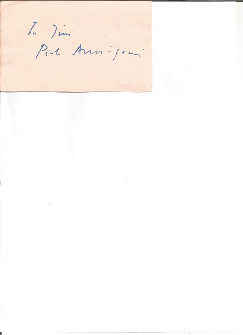 Pier Anagoni signed album page. Good Condition. All