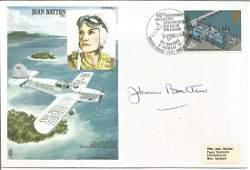 Jean Batten signed own commemorative Historical