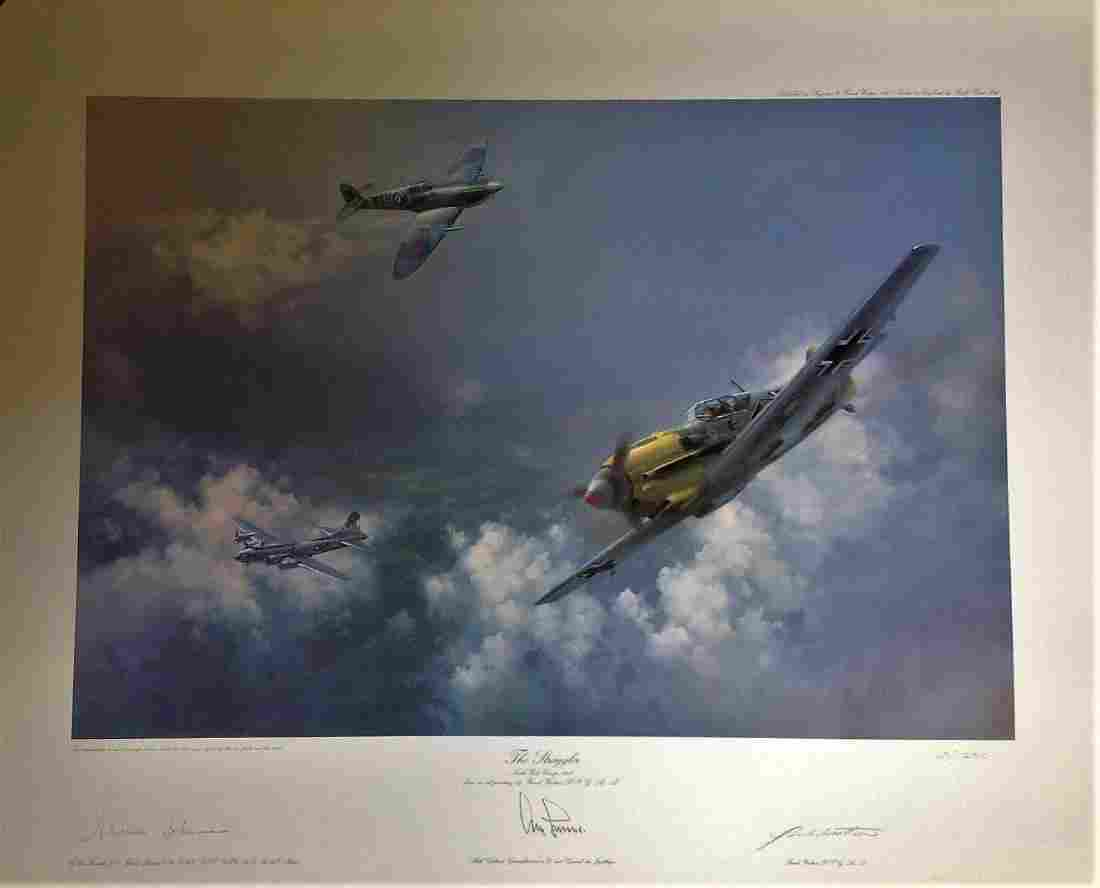 World War Two 23x30 approx print titled The Stragglers