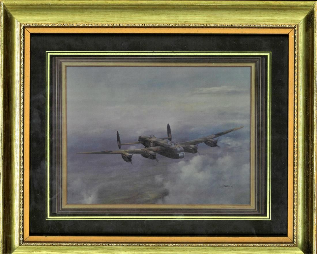 World War Two framed and mounted print 12x14 picturing