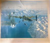 World War Two 26x32 print titled Sinking of the Tirpitz