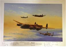 World War Two 25x33 print titled The Dambusters by the