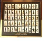 Military collection 19x21 framed and mounted cigarette