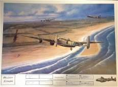 World War Two 20x27 print titled Enemy Coast Ahead by