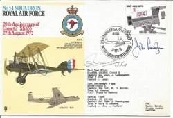 WW2 Top Nightfighter ace John Cunningham signed 1973