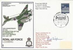 Pat Fillingham 1940 Mossie test pilot signed RAF