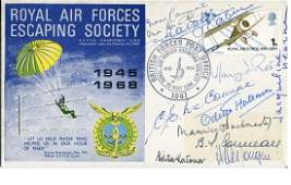 WW2 SOE MULTI SIGNED RAF Escaping Society cover signed