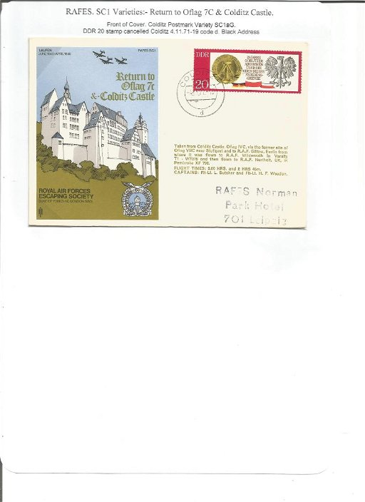 Colditz Castle signed SC1 from the RAF Escaping Society