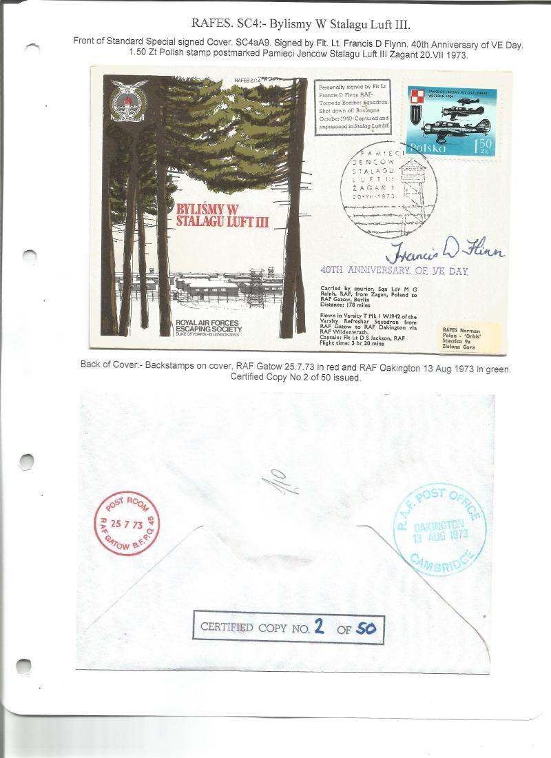 Flt Lt Francis Flynn WW2 POW signed Escape from Stalag