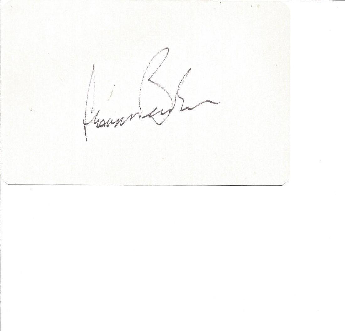 Leonard Bernstein signed white card. Good Condition.