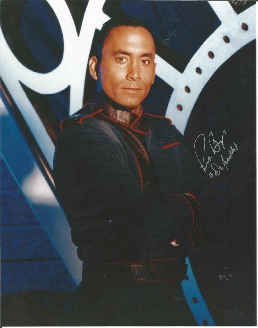 Richard Biggs signed 10x8 colour photo Star Trek. Good