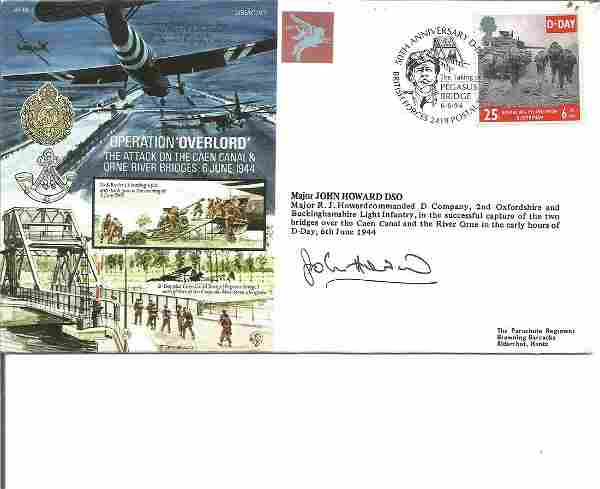 D Day John Howard signed Operation Overlord, 6 June