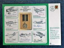WW2 multisigned cover. Award of the 1939-45 Star