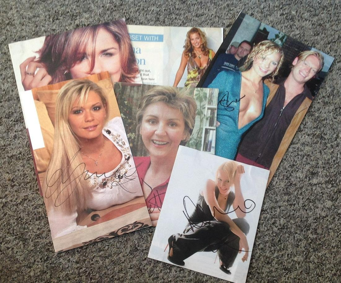 Female TV signed collection. Mainly magazine photos.