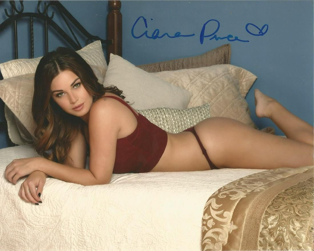 Ciara Price Playboy Model hand signed 10x8 photo. This