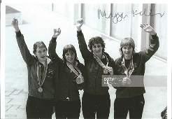 Olympics Margaret Kelly signed 6x4 signed b/w photo ,