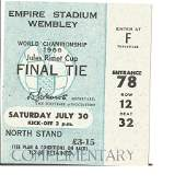 1966 World Cup rare complimentary match ticket for the