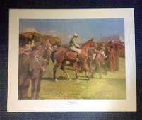 Horse Racing print 23x28 approx titled At Hethersett