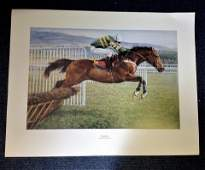 Horse Racing Print 33x28 approx picturing Istabraq the