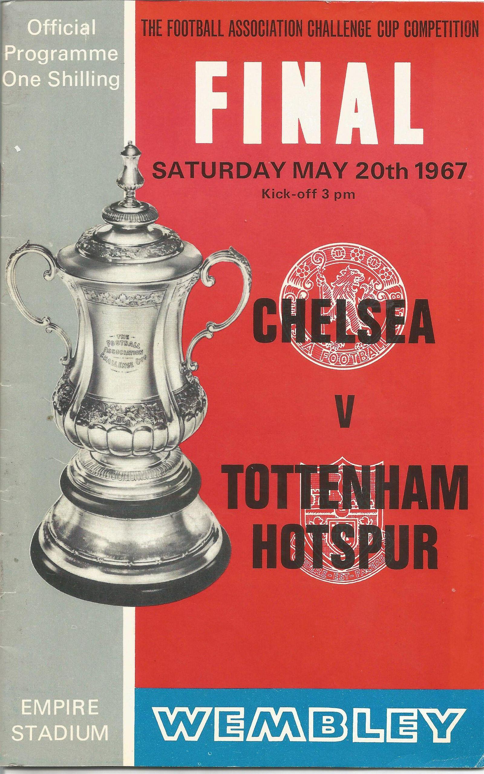 Football vintage programme Chelsea v Tottenham Hotspur