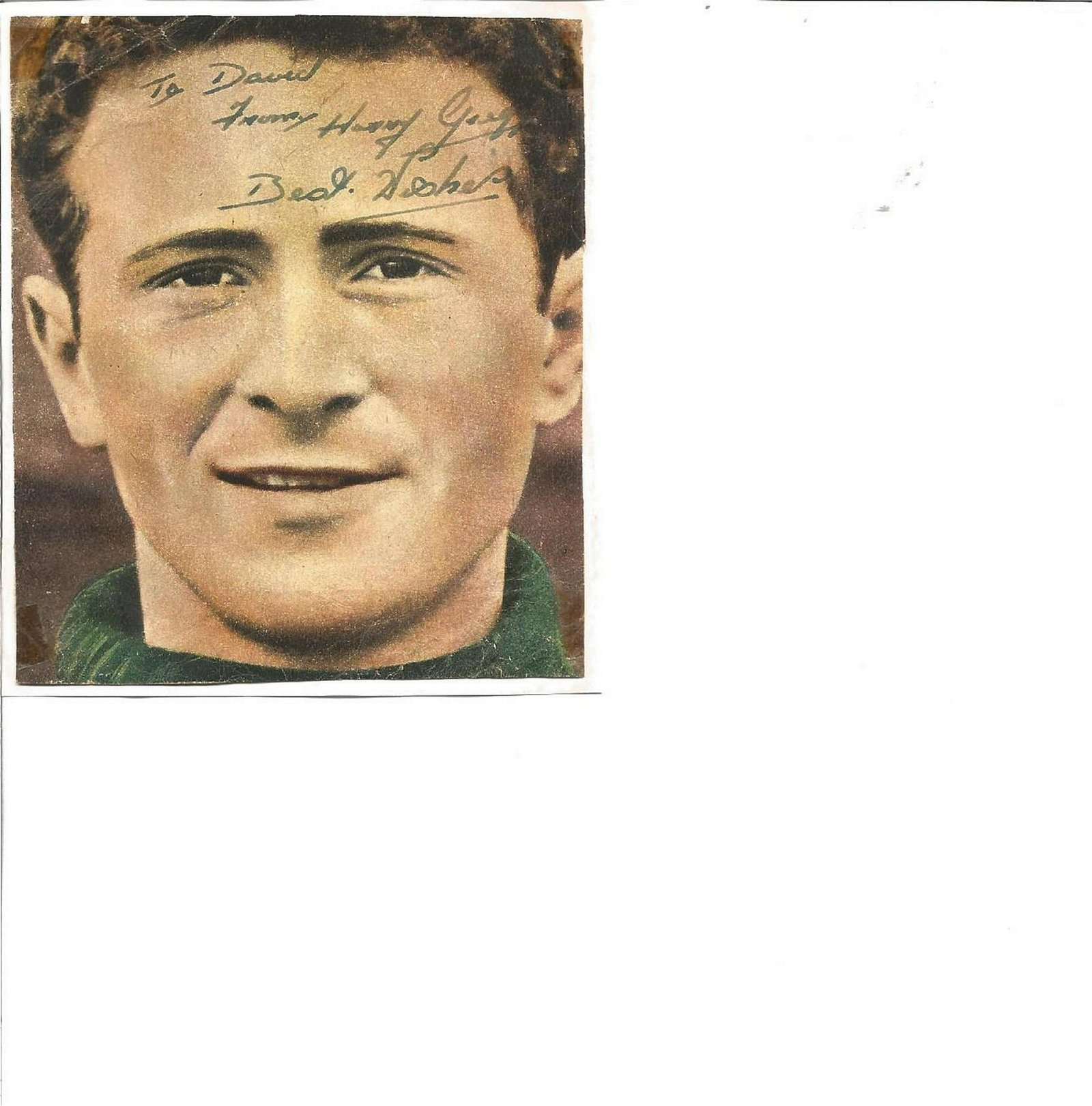 Football Legends Busby Babe Harry Gregg 4x3 signed