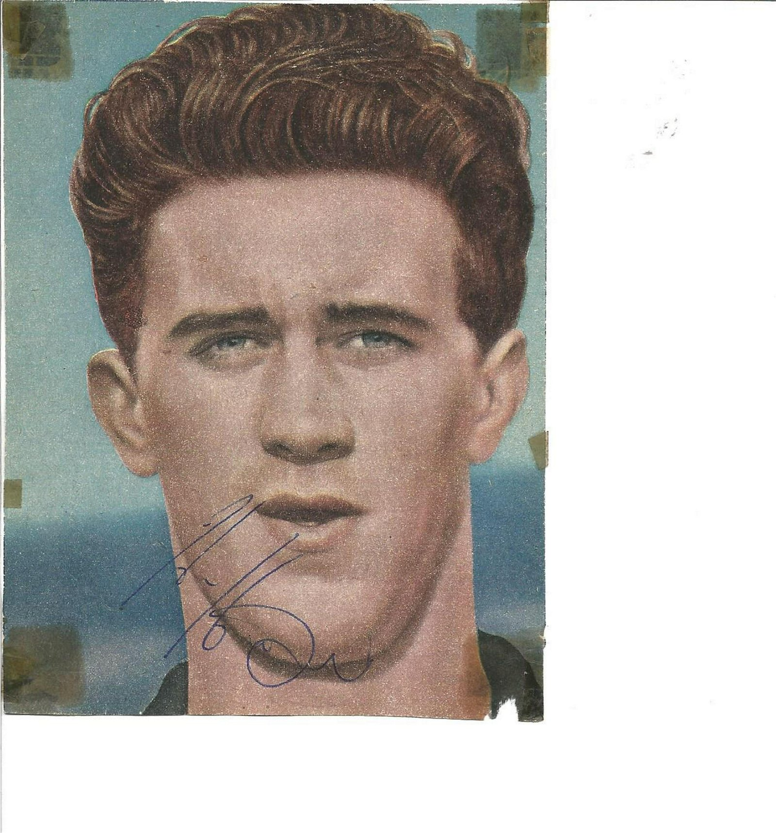 Football Legends Harry Hooper 6x4 signed colour