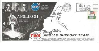 Apollo XI 1969 TWA Support FDC signed Neil Armstrong,