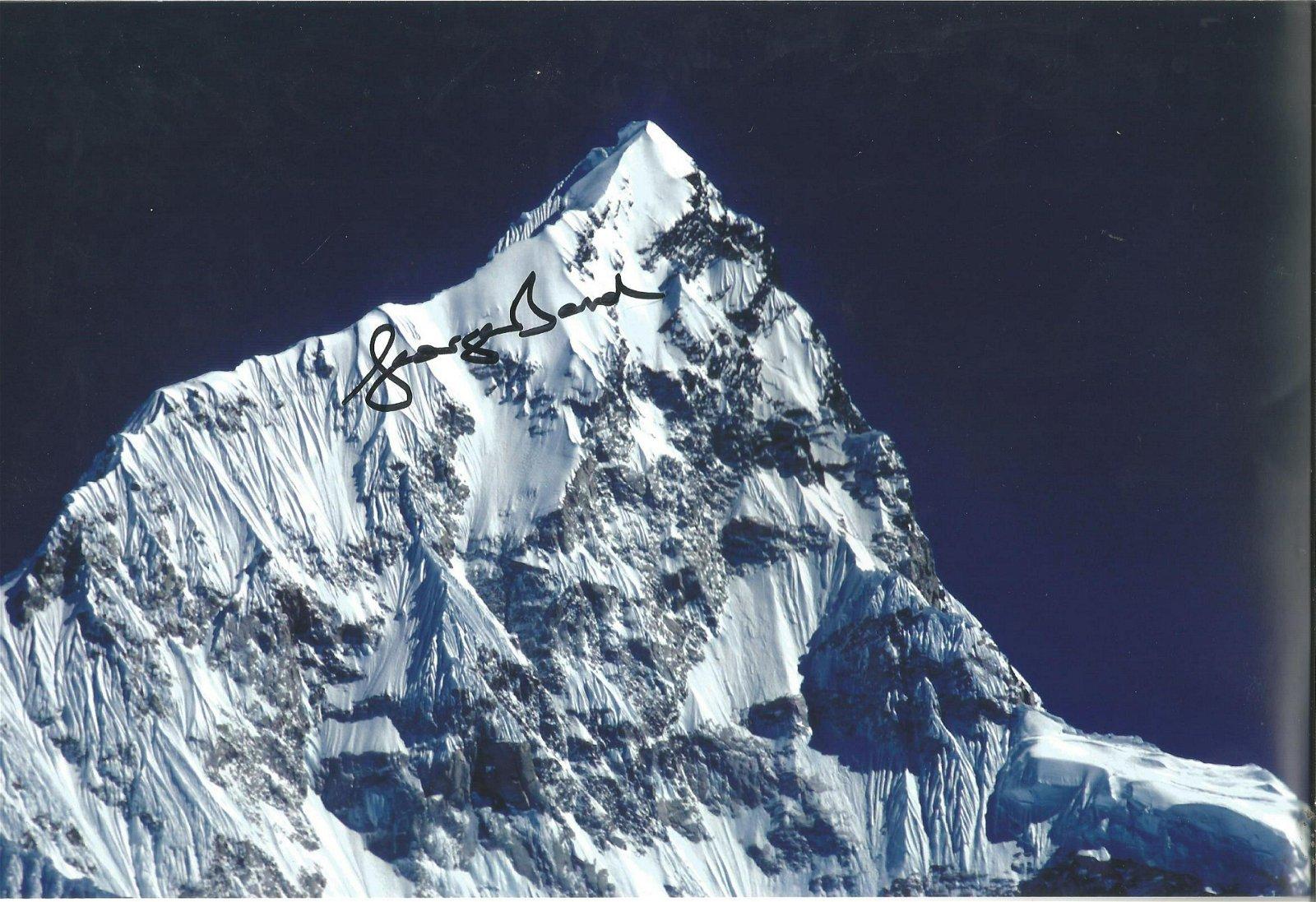 George Band signed 12x8 colour Everest photo. Slight