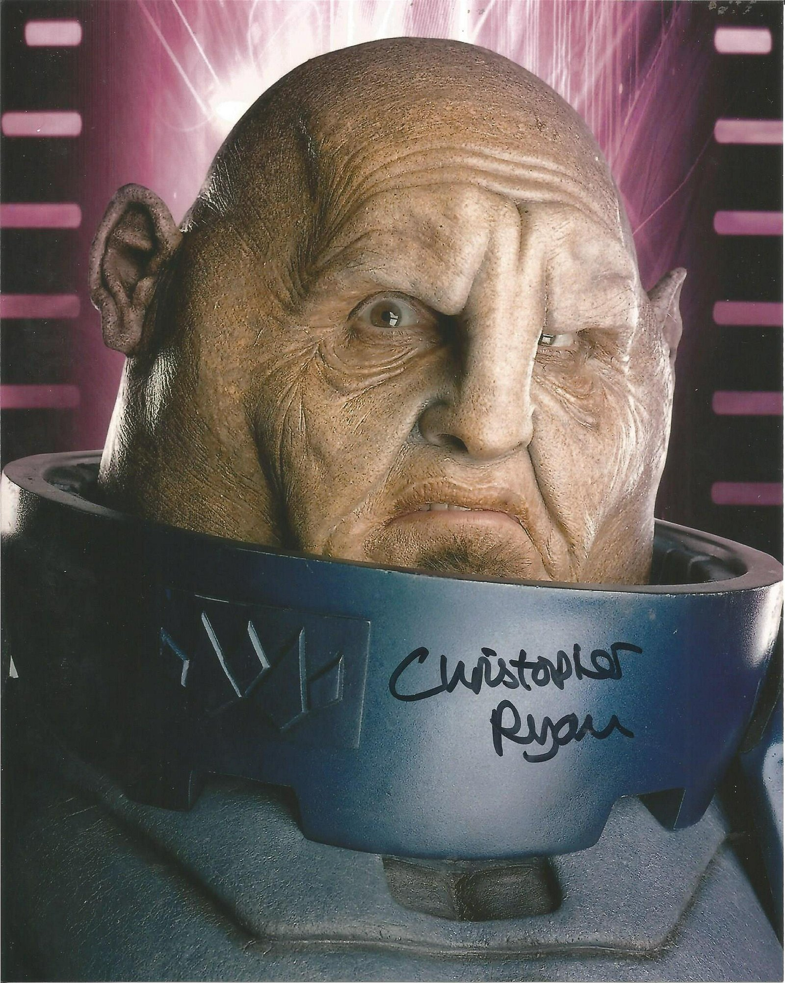 Lot of 3 Dr. Who hand signed 10x8 photos. This
