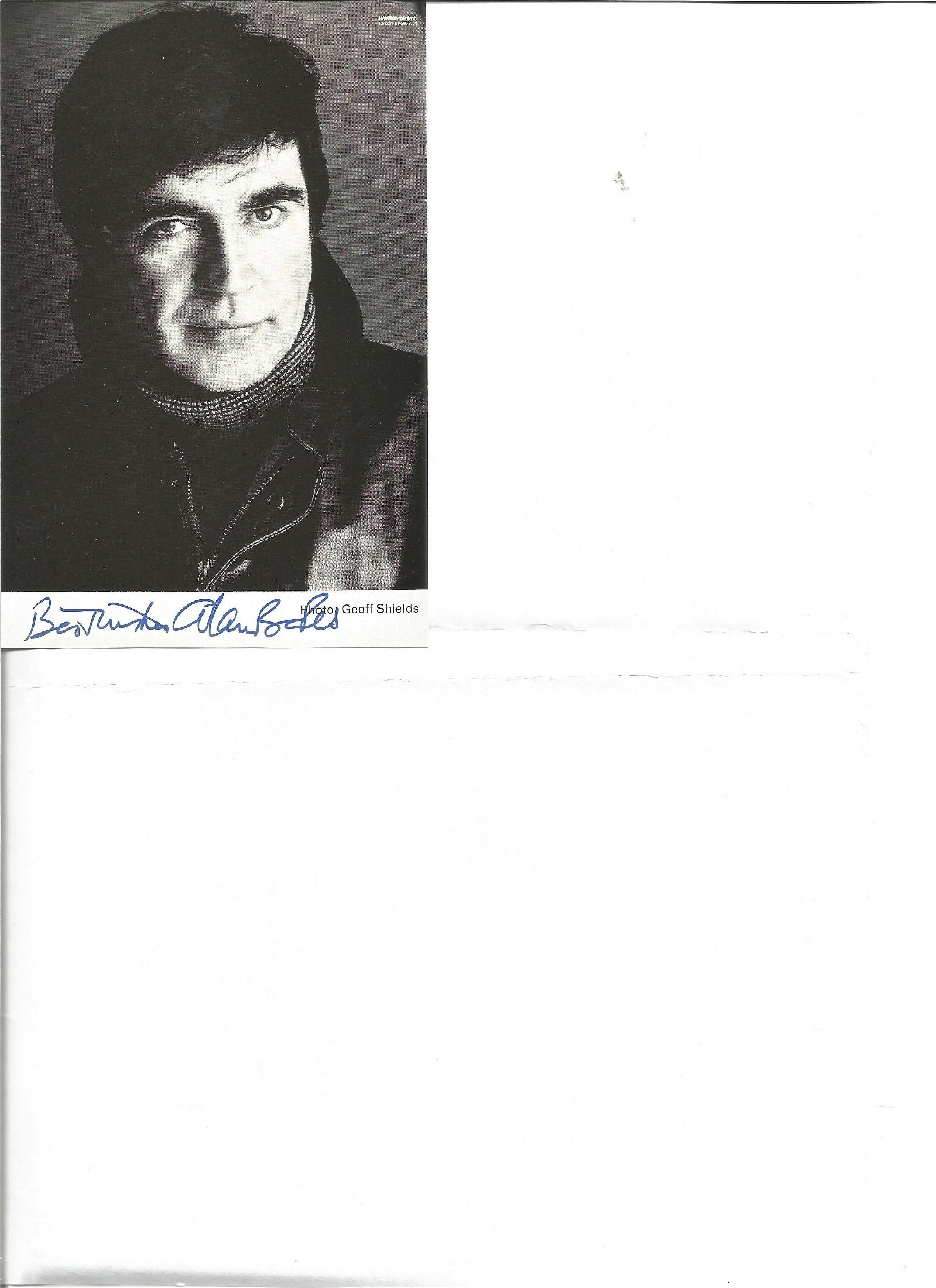 Alan Bates signed 6x4 b/w photo. 17 February 1934 - 27