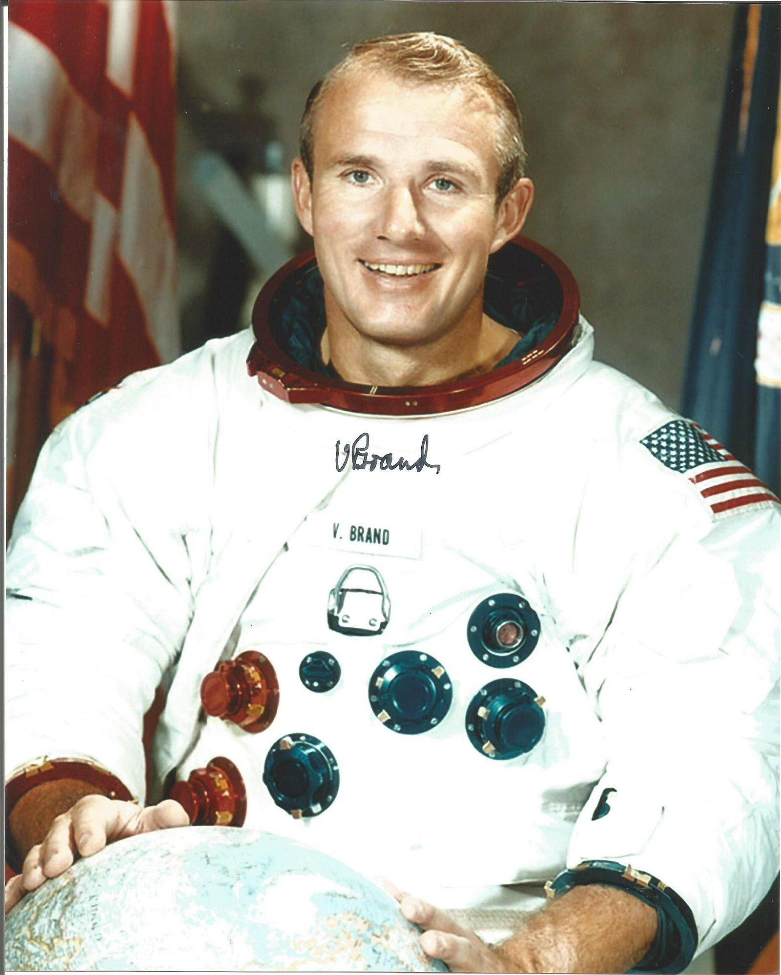 Vance Brand Astronaut signed 10x8 colour photo. Good
