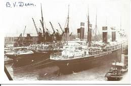 RMS Titanic survivor D V Dean signed 6 x 4 postcard.