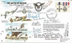 Ten Battle of Britain pilots signed JS50. 50th ann BOB