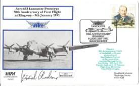 Leonard Cheshire VC WW2 617 Sqn CO signed 1991 VAFA