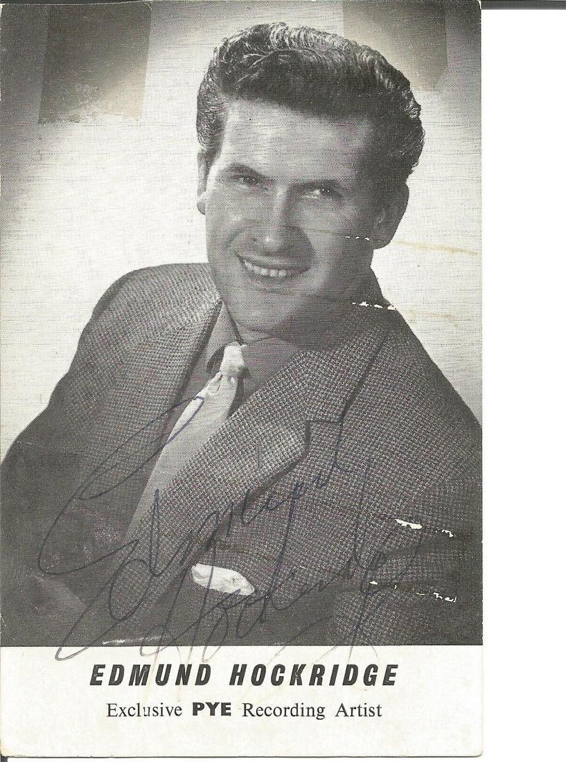 Edmund Hockridge signed small b/w photo. Tape marks on