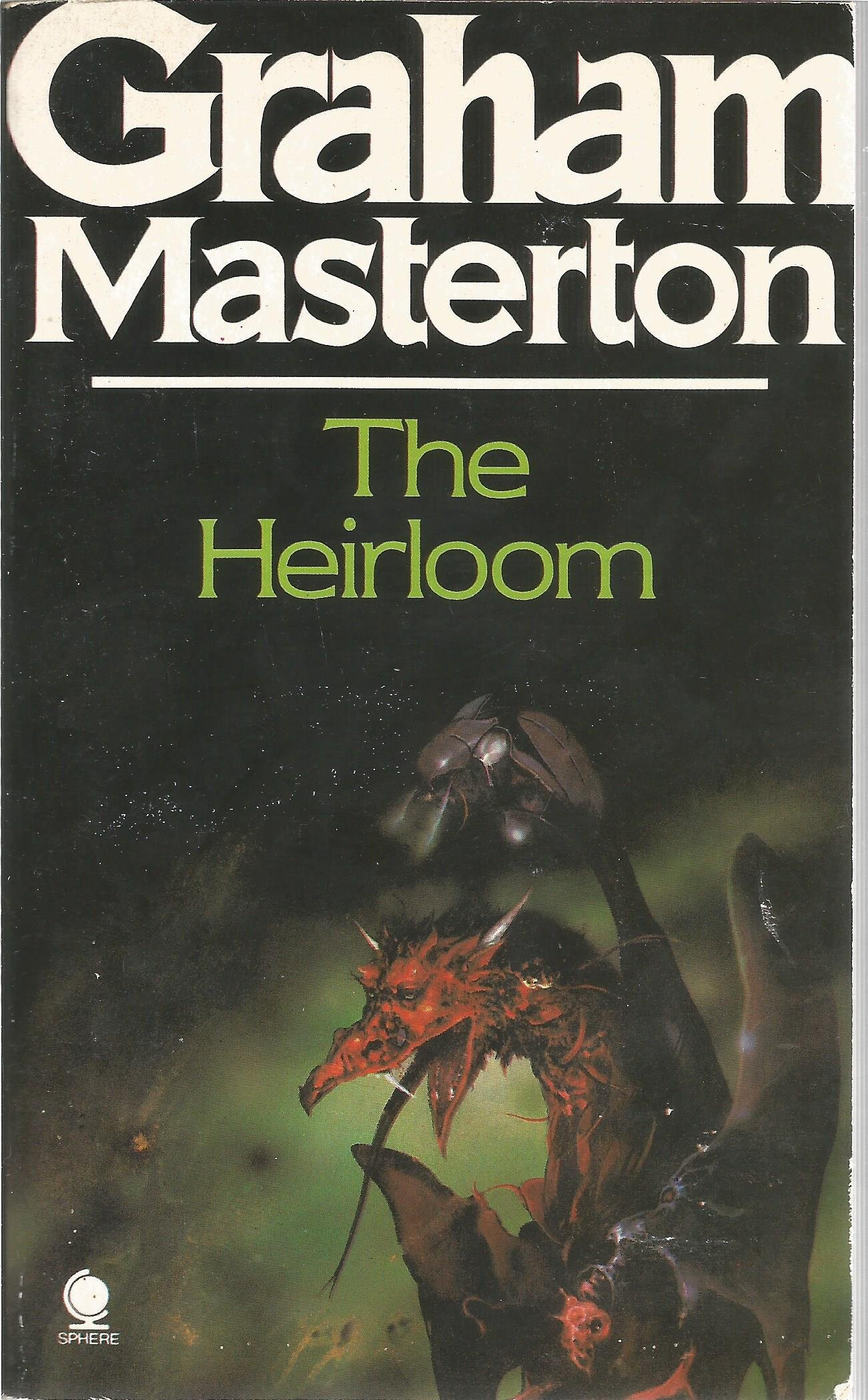 Graham Masterton signed book The Heirloom. Signed on