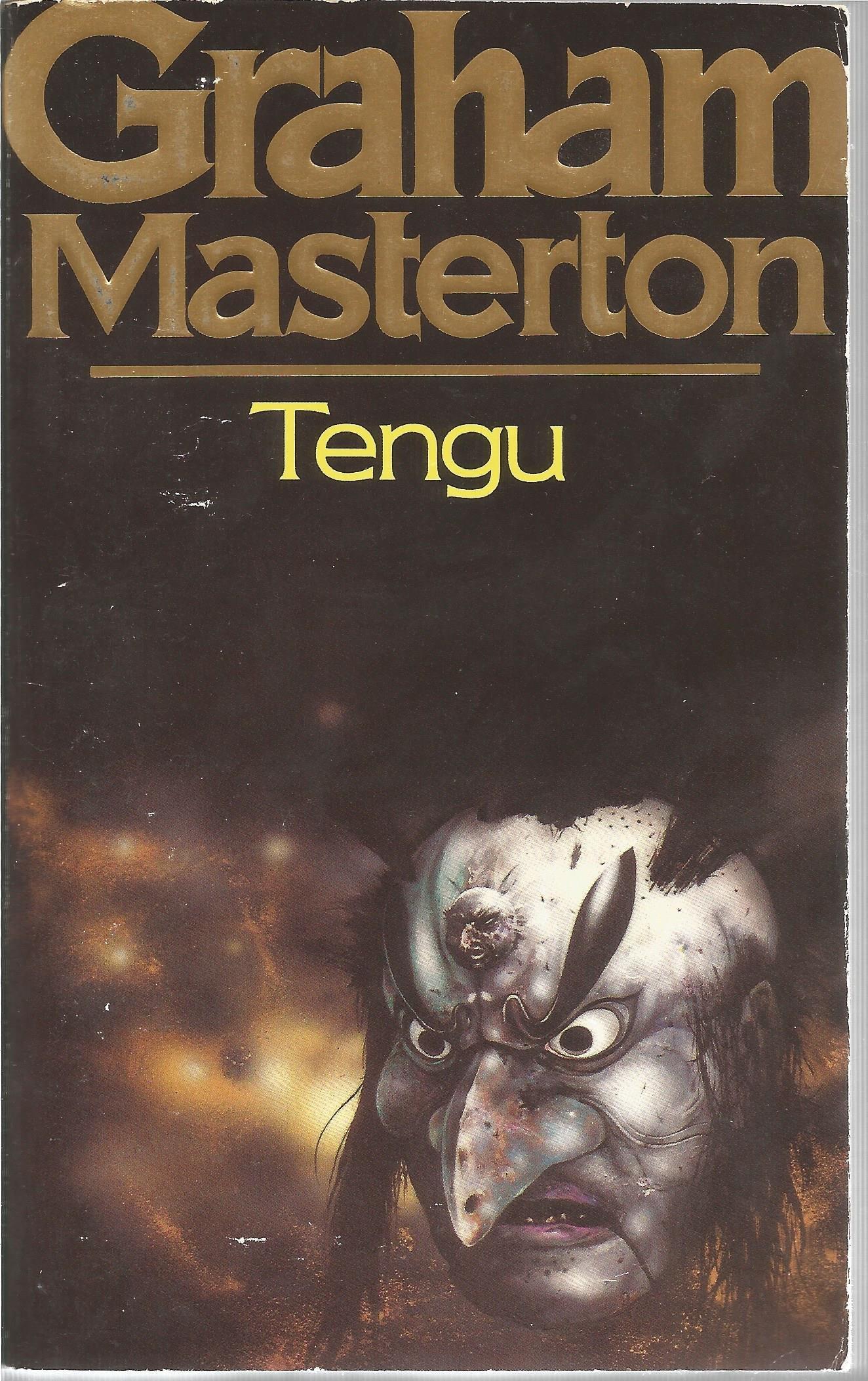 Graham Masterton signed book Tengu. Signed on inside