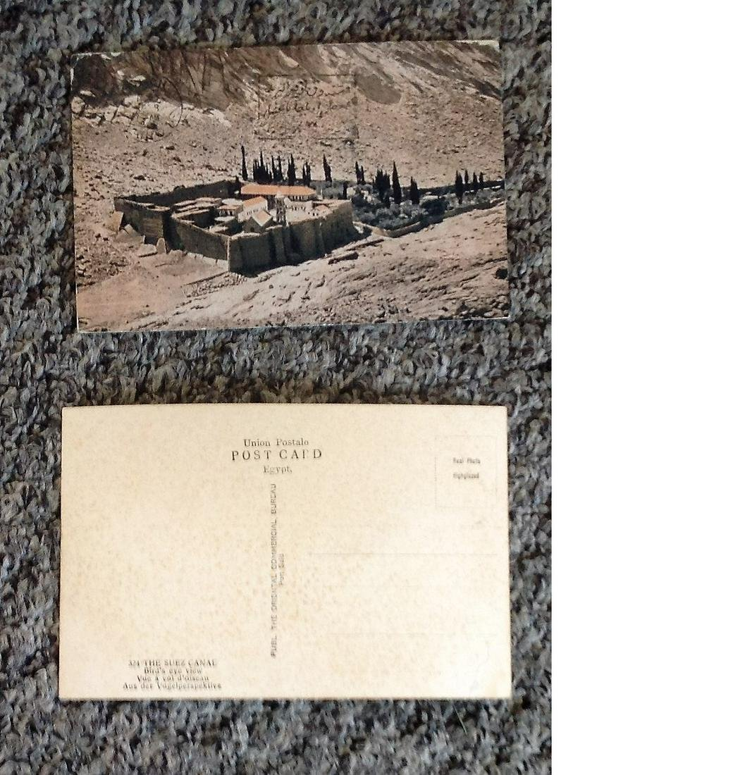"Vintage Postcards """"The Suez Canal birds eye view"