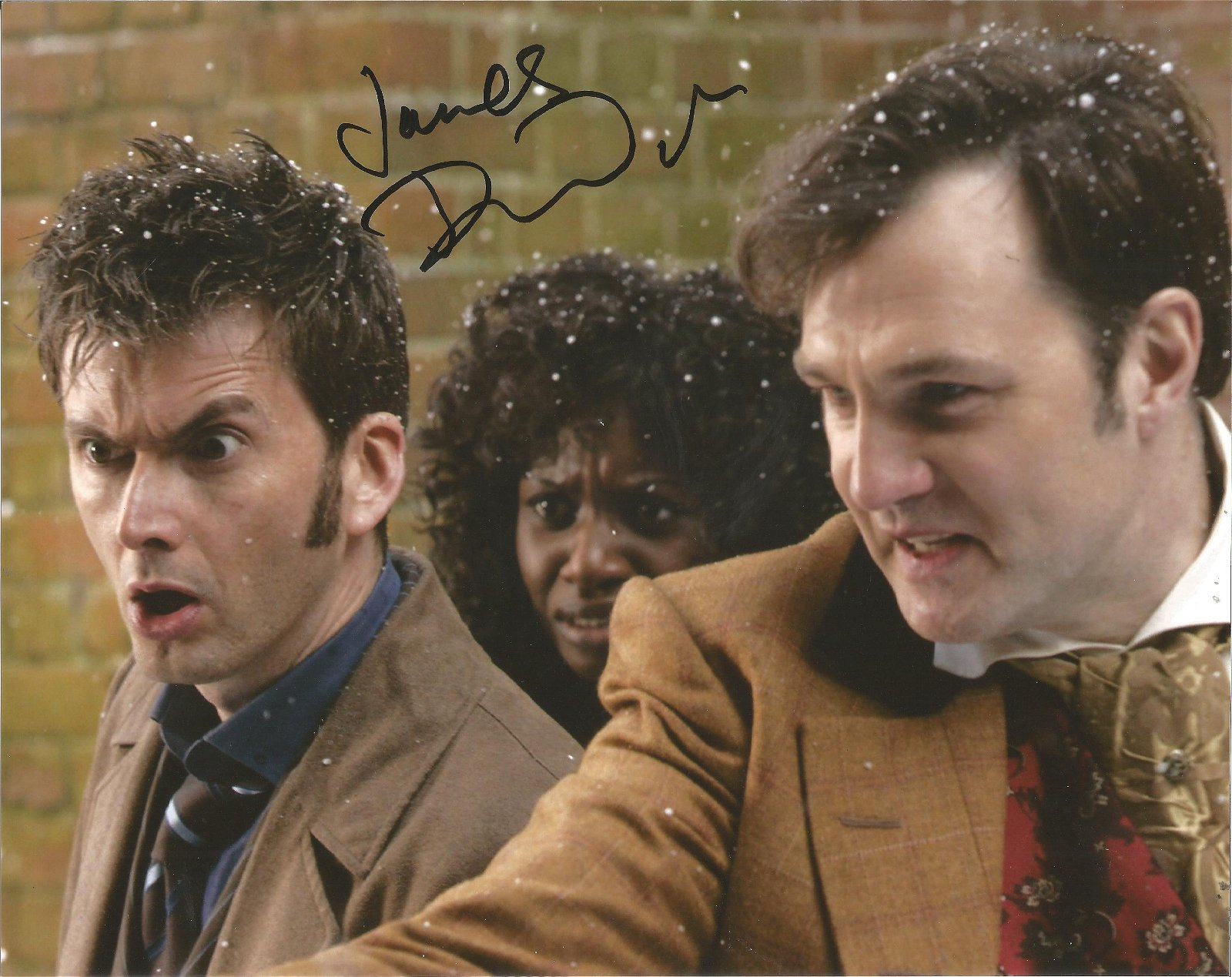 David Morrisey Actor Signed Doctor Who 8x10 Photo. Good